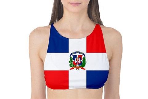 Dominican Republic Flag Tank Bikini Top