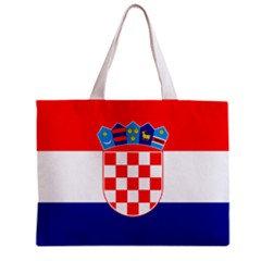 Crotia Flag Tote Bag w/ Zipper.