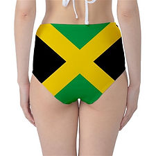 Jamaica High Waisted Flag Bikini Bottoms, Globalkinis Jamaican High Waist Flag Bikini Bottoms