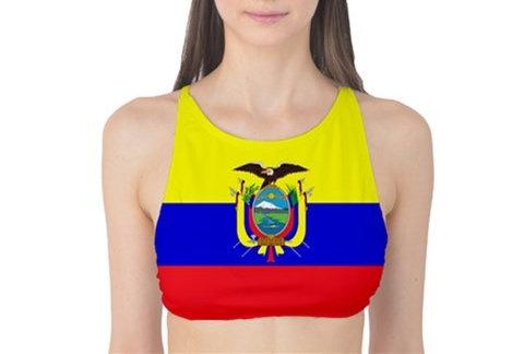 Ecuador Flag Tank Bikini Top