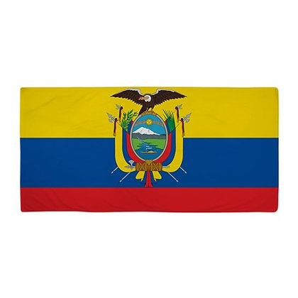 Ecuador Flag Beach Towel