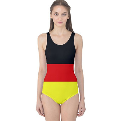 Germany Flag One Piece Swimsuit Bikini