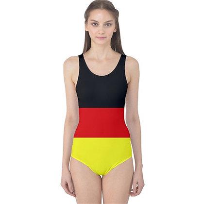 Germany Flag One Piece Swimsuit Bikini