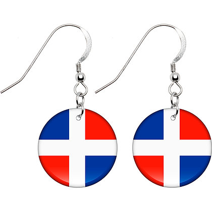 Dominican Republic Flag Earrings