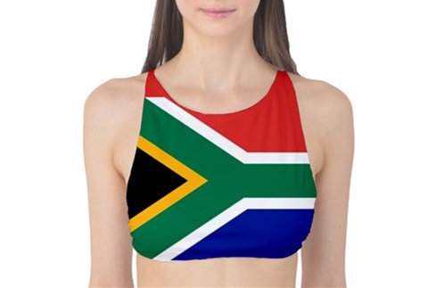South Africa Flag Tank Bikini Top