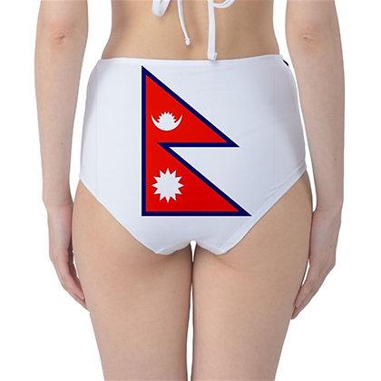 Nepal High Waist Flag Bikini Bottoms