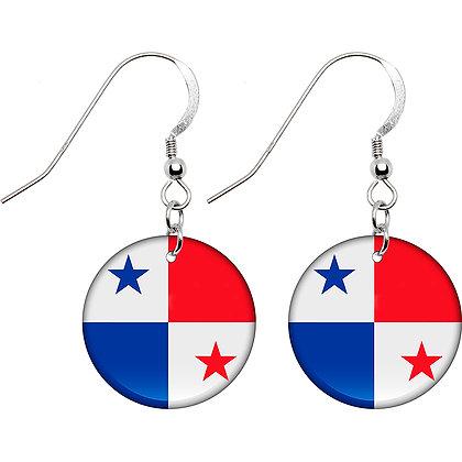 Panama Flag Earrings