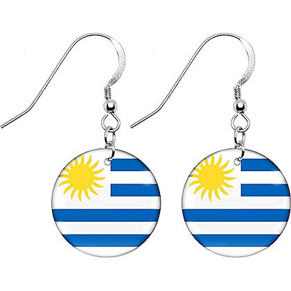 Uruguay Flag Earrings