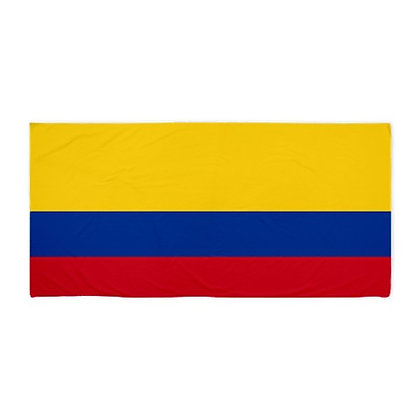 Colombia Flag Beach Towel