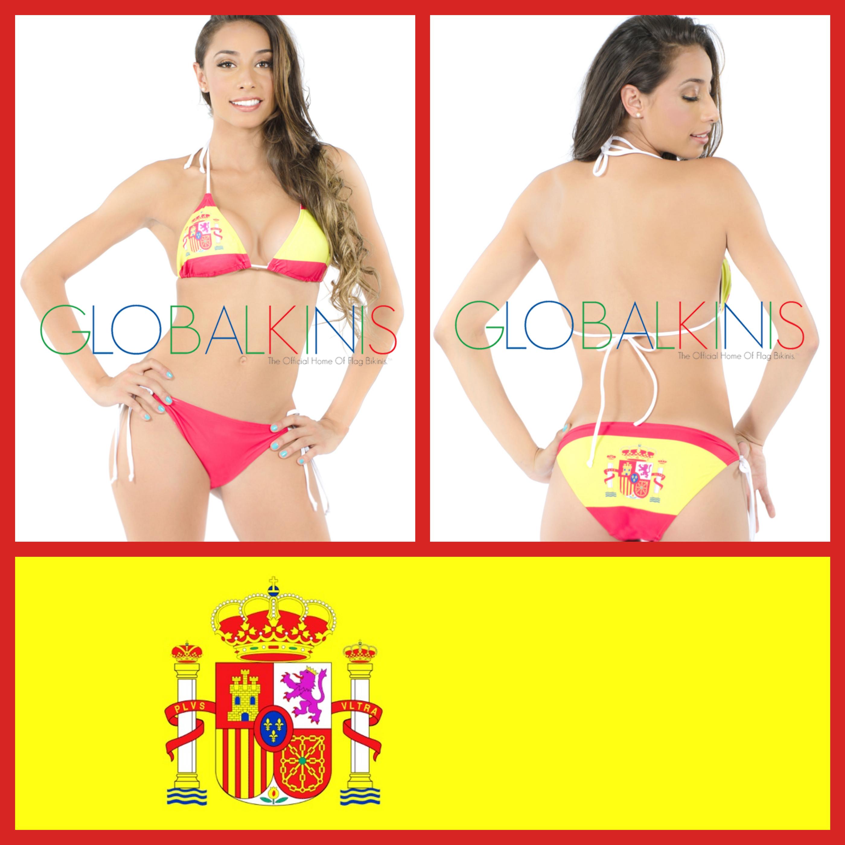 Spain Flag Bikini