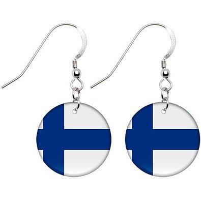 Finland Flag Earrings