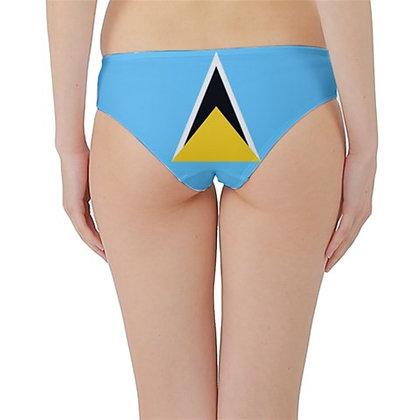 St. Lucia Flag Hipster Cheeky Bikini Bottoms
