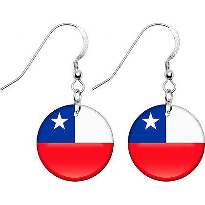 Chile Flag Earrings