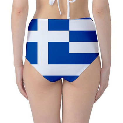 Greece High Waist Flag Bikini Bottoms