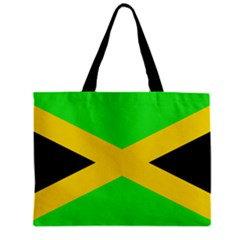 Jamaica Flag Tote Bag w/ Zipper.
