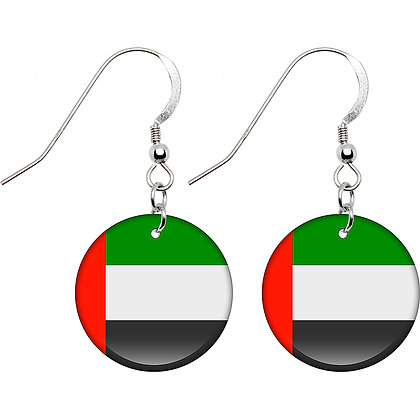 United Arab Emirates Flag Earrings