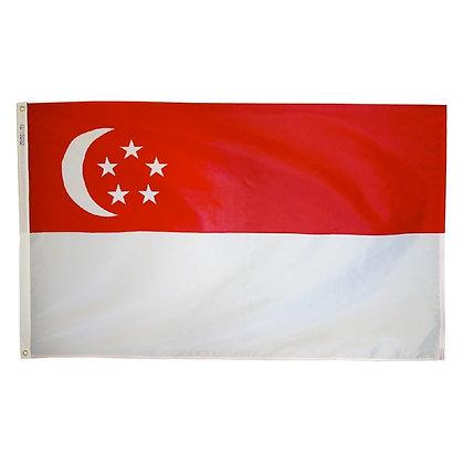 "Singapore Flag ""3x5"""