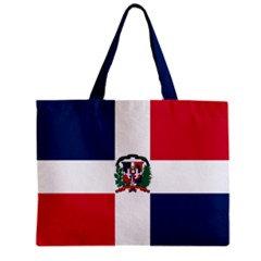 Dominican Republic Flag Tote Bag w/ Zipper.