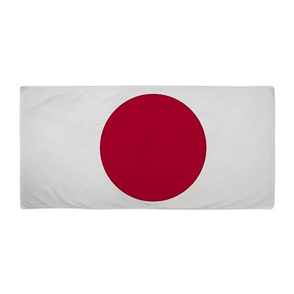 Japan Flag Beach Towel