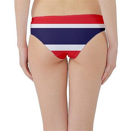 Thailand Flag Hipster Cheeky Bikini Bottoms