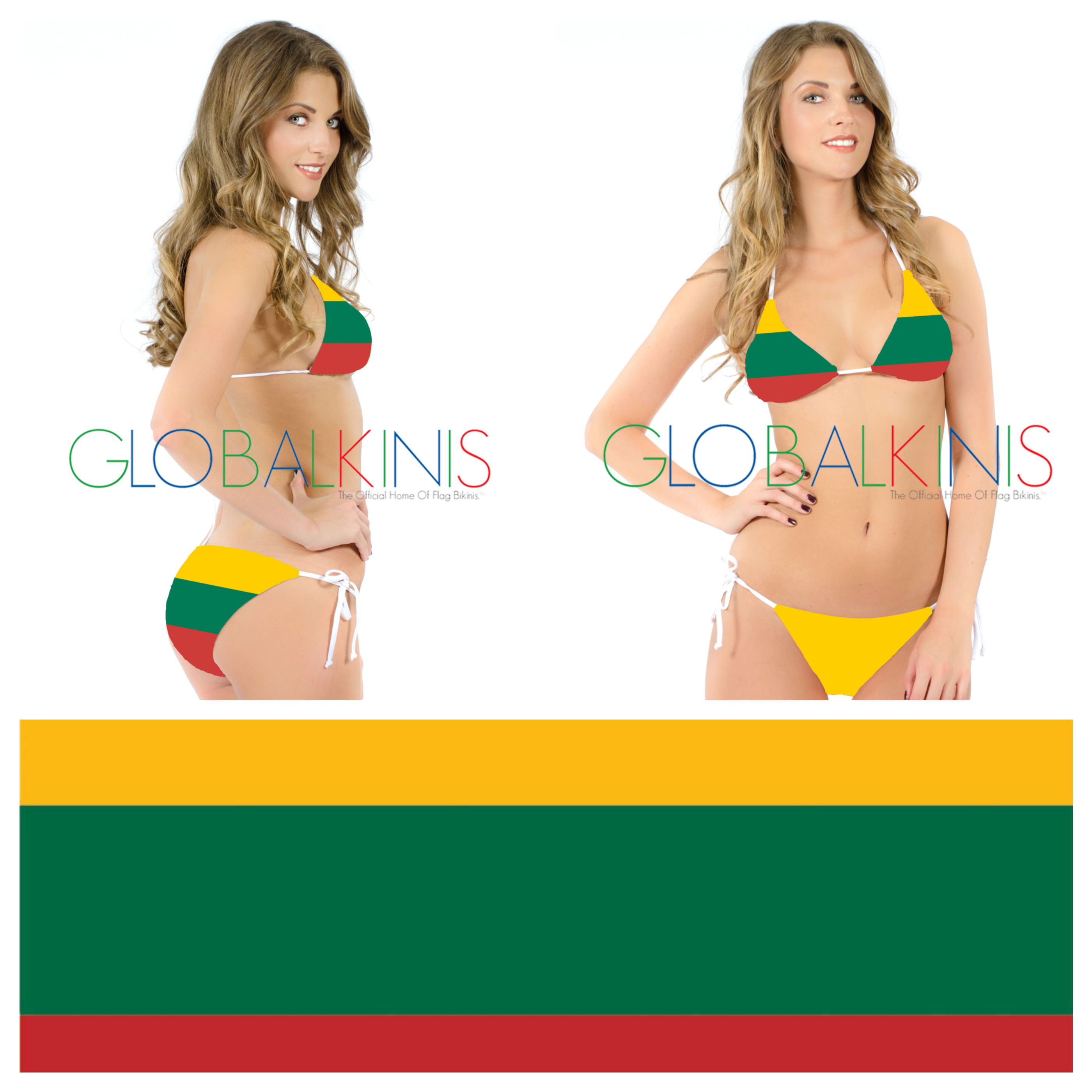 Lithuania Flag Bikini