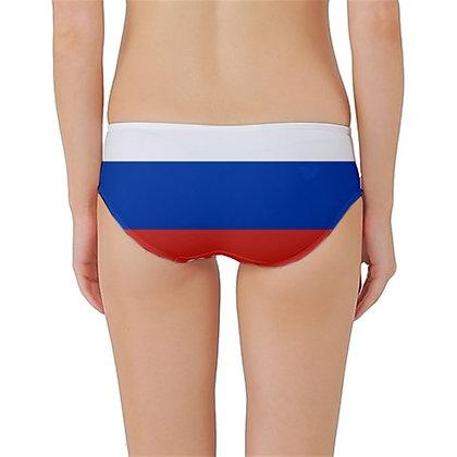 Russia Flag Classic Bikini Bottoms