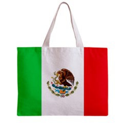 Mexico Flag Tote Bag w/ Zipper.
