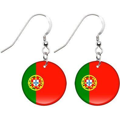 Portugal Flag Earrings