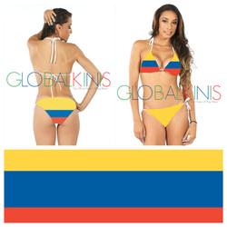Colombia Flag Bikini