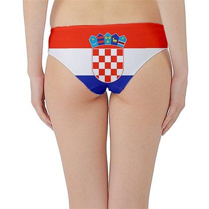Croatia Flag Hipster Cheeky Bikini Bottoms