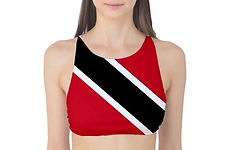 Trinidad Flag Tank Bikini Top, Globalkinis Trinidad and Tobago Country Flag Tank Bikini Top