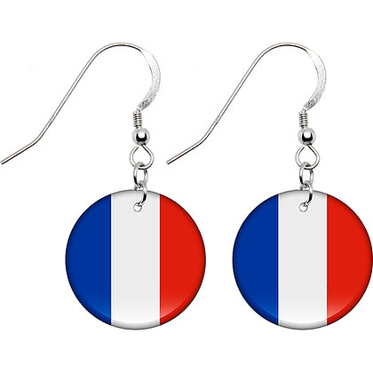France Flag Earrings