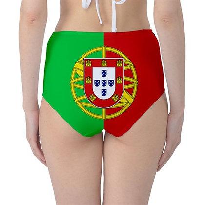 Portugal High Waist Flag Bikini Bottoms