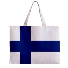 Finland Flag Tote Bag w/ Zipper.