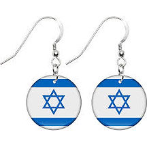 Globalkinis Israel Earrings, Isreal Country Flag Earrings