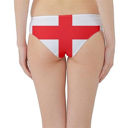 England Flag Hipster Cheeky Bikini Bottoms
