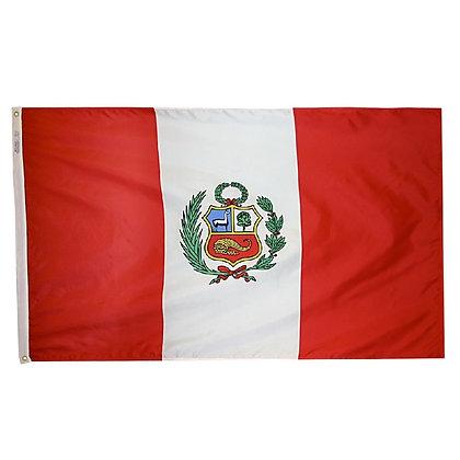 """Peru Flag """"3x5"""""""