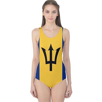 Barbados Flag One Piece Swimsuit Bikini