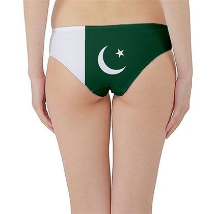 Pakistan Flag Hipster Cheeky Bikini Bottoms