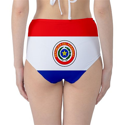 Paraguay High Waist Flag Bikini Bottoms