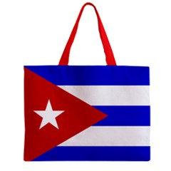 Cuba Flag Tote Bag w/ Zipper.