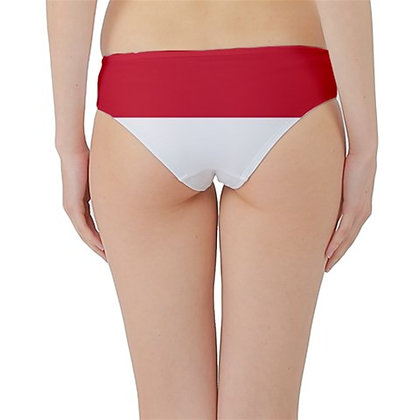 Indonesia Flag Hipster Cheeky Bikini Bottoms