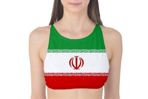 Iran Flag Tank Bikini Top