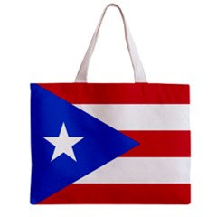 Puerto Rico Flag Tote Bag w/ Zipper.