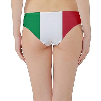 Italy Flag Hipster Cheeky Bikini Bottoms