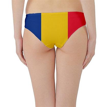 Romania Flag Hipster Cheeky Bikini Bottoms