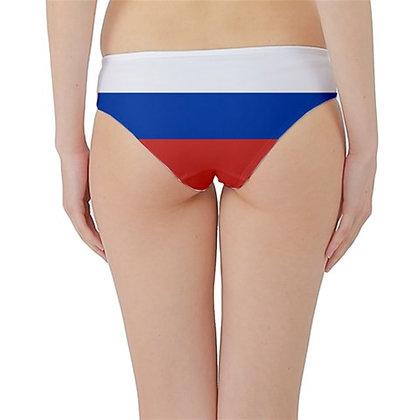 Russia Flag Hipster Cheeky Bikini Bottoms