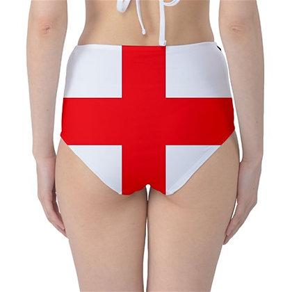 England High Waist Flag Bikini Bottoms