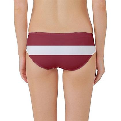Latvia Flag Classic Bikini Bottoms