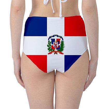 Dominican Republic High Waist Flag Bikini Bottoms